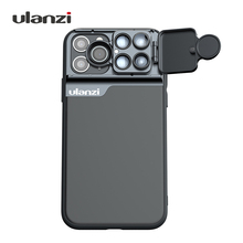 Multi-Lens-Case Fisheye-Lens Ulanzi iPhone Slide with 3in1 CPL 10X 180-Degree And Flip-Up-Design