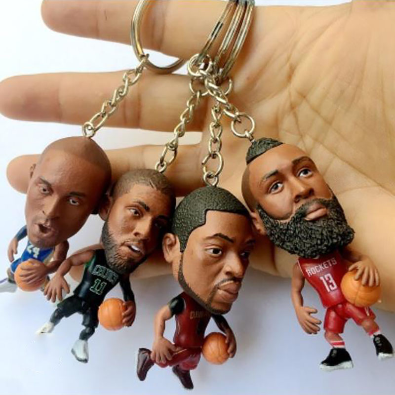 2020 New NBA Kobe / James / Wade / Alphabet / Anthony / Curry / Durant / Puppet Mini Doll Keychain Bag Pendant Fans.