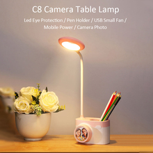 C8 Camera LEDs Night Light Table Lamp Cameral Photo Reading Eye Care with Pen Holder for Living Room Bedroom Kids led desk lamp metal marble led table lamp living room bedroom reading lamp desk lamp e27 holder eye protection light lustre night luminaria