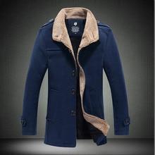 Winter Jacket Men Thick Lapel Fleece Coat Autumn New Bomber Cotton Clothing Jaqueta Masculina 2019 Warm Khaki