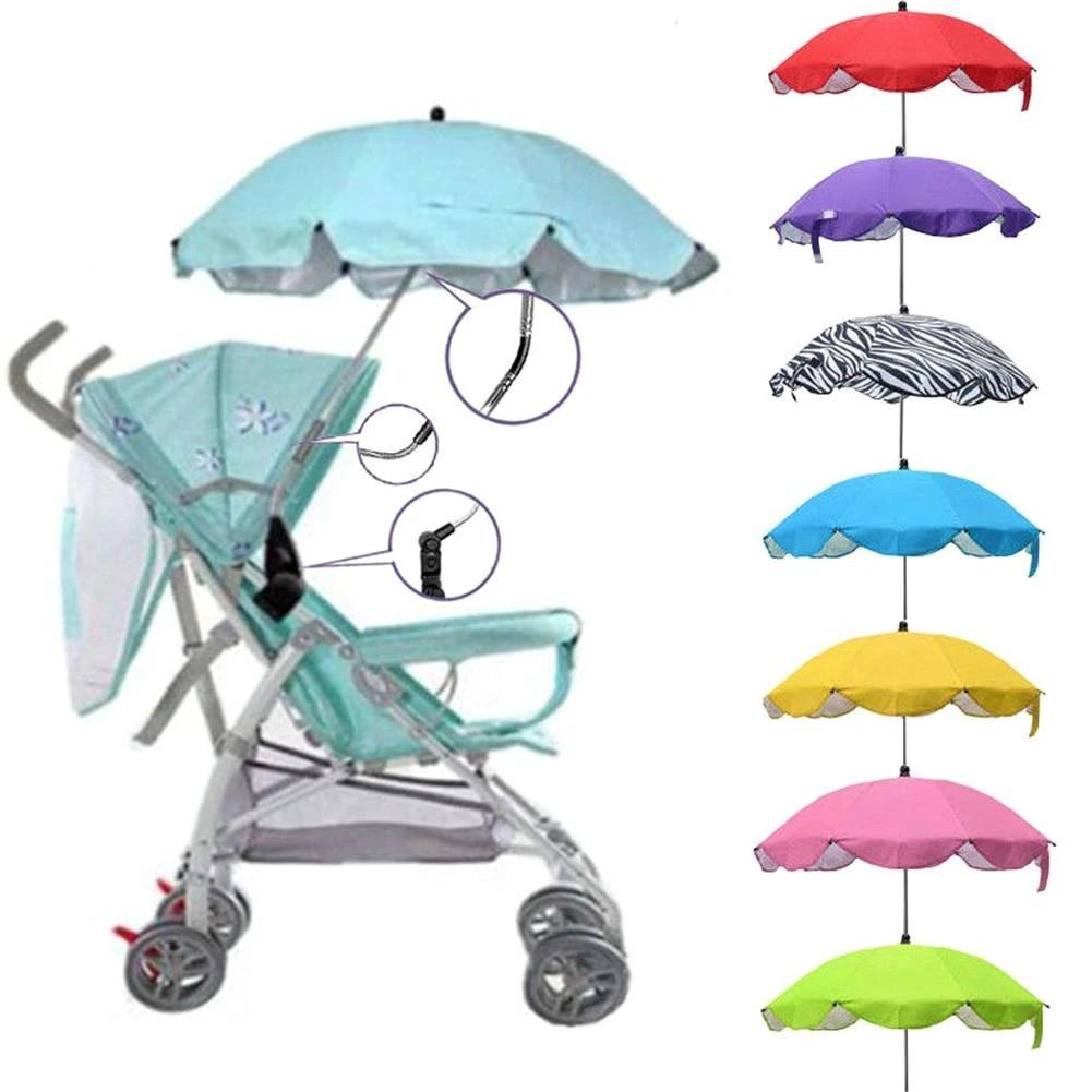 Sun Umbrella Parasol Kids Baby Buggy Pram Stroller Shade Canopy Covers Pink