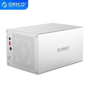 ORICO WS Series 3,5 ''5 Bay Type C con caja HDD RAID, soporte 5*10TB HDD, estación de acoplamiento 5Gbps USB 3,1, carcasa de disco duro
