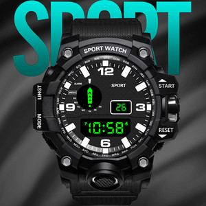 Luxury Mens Digital LED Watch outdoor electronic watch display pointer luminous sports camouflage electronic watch Digital Clock