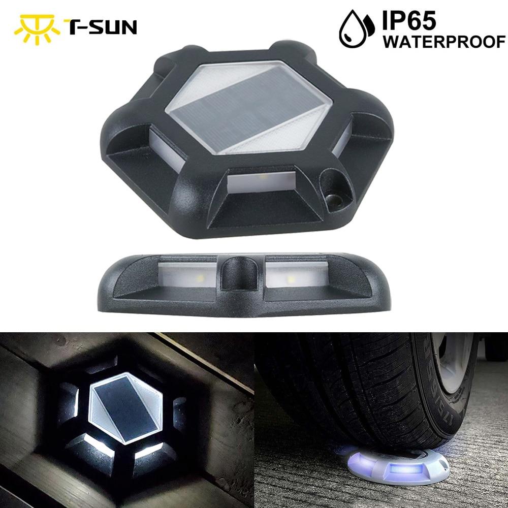 T-Sun 6 LED Solar Light Outdoor IP65 Waterproof Solar Lawn Lamps Decorative Solar Garden Light For Yard Deck Landscape Lighting