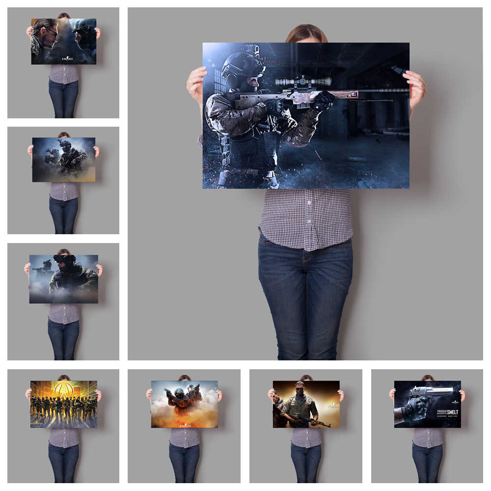 Hd Popular Online Games Csgo Hight Quality Canvas Painting Hight Quality Home Decor For Children S Room No Frame O250 Aliexpress