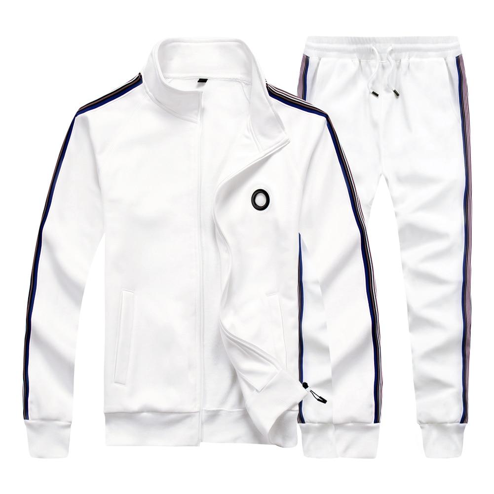 Fashion Men Set Top+Pants Two Piece Sets Male Spring Autumn Jogger Sweatshirt Jackets Sportswear Tracksuit Mens Sporting Suits