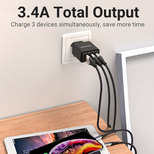 Image 2 - Vention USB Charger USB Wall Charger EU Adapter for iphone Xs 12 11 Samsung Huawei Mate 30 Xiaomi Fast Wall Mobile Phone Charger