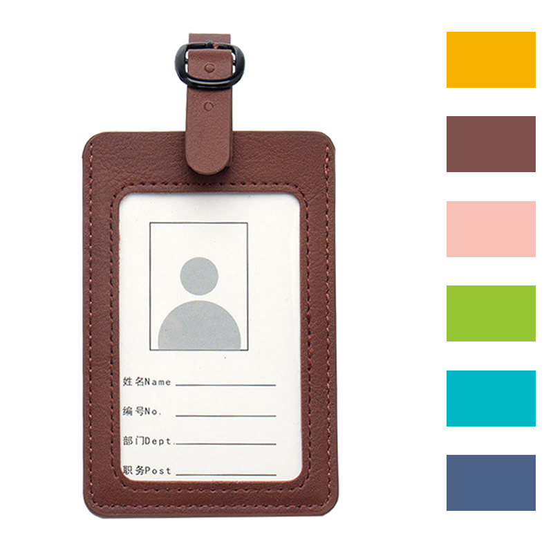 Jiexi New Pu Leather Luggage Tag Label Travel Accessories For Suitcases Holder Custom Cute Personalized For Travel Easy  ZS05