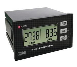 Strumento di qualità dell'acqua EC monitor del rivelatore di conducibilità tds dual rilevamento tester del tester on-line TDS penna 0.0-9999us/0.0-20.0 ms