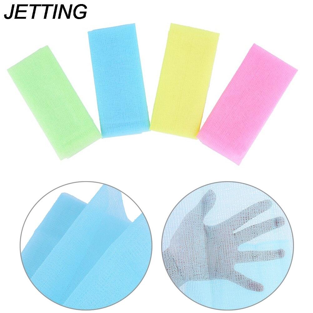 1pc Bathroom Exfoliating Nylon Wash Massage Cloth Towel Bath Shower Body Cleaning Cloth Towel Back Scrub Body Cleaning