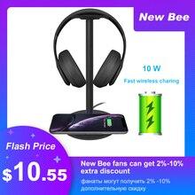 חדש מקורי דבורה מהיר טעינה אלחוטי אוזניות Stand 5W/7.5W/10W מהיר טעינה מהירות אוזניות מחזיק עם LED עבור כל טלפון Qi