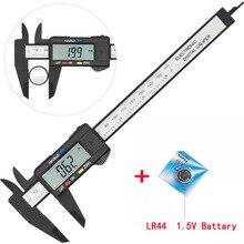 Digital Ruler Gauge Micrometer-Measuring-Tool Vernier-Caliper Carbon-Fiber 150mm Vastar