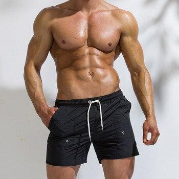 Moda mayo strój kąpielowy szorty stroje kąpielowe męskie kąpielówki męskie sunga transparente cienkie i lekkie szybkie suche spodnie plażowe Surf # F