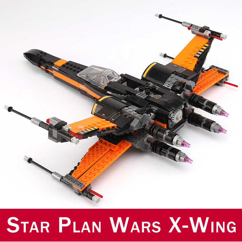 742pcs di Primo Ordine X-Wing Fighter BB-8 Figure Building Blocks Giocattoli Compatibile FAI DA TE 75102 10466 05004 Star Piano wars Serie