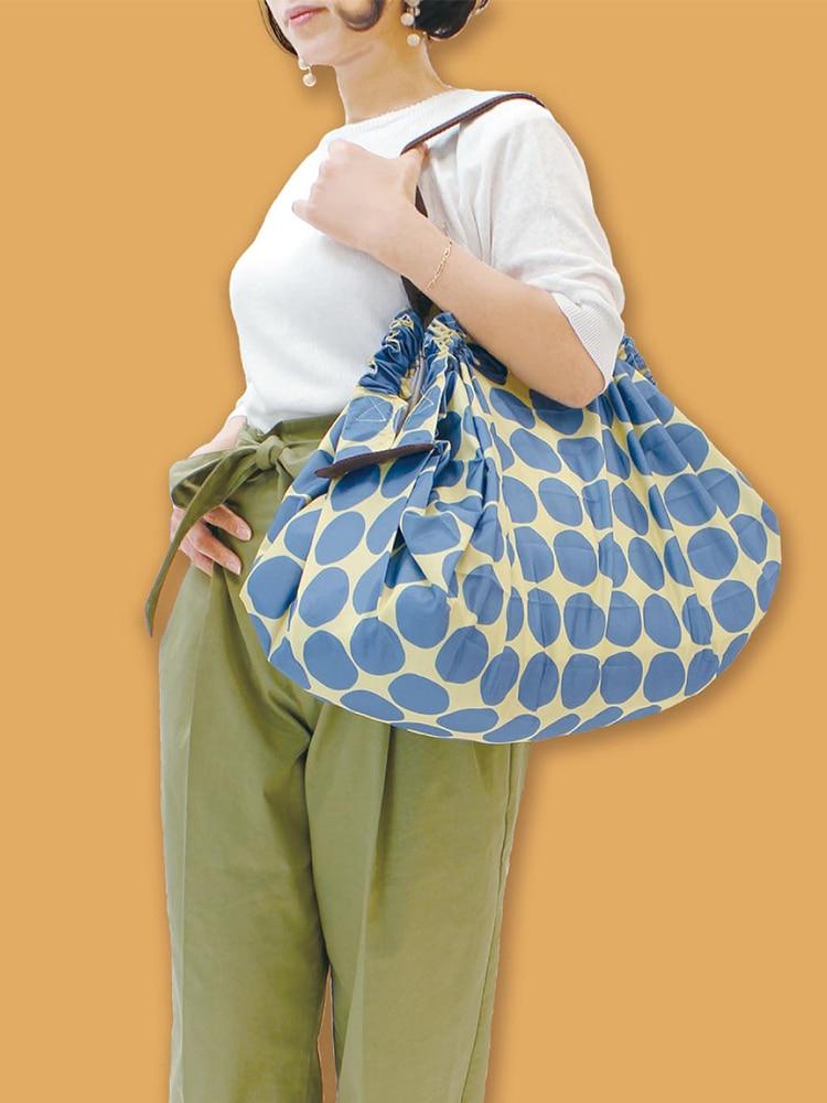 MABULA Grocery Bags Compact-Bag Foldable Eco-Friendly Large-Capacity Spat Travel