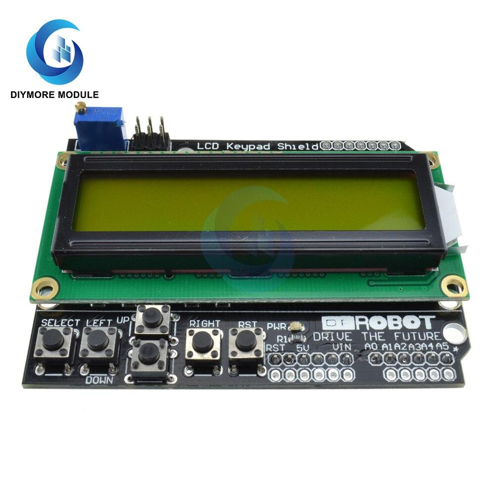 Плата расширения модуля ЖК дисплея 1602, зеленый/синий экран 16*2 с клавиатурой MCP23017 для Arduino UNO R3/Raspberry Pi