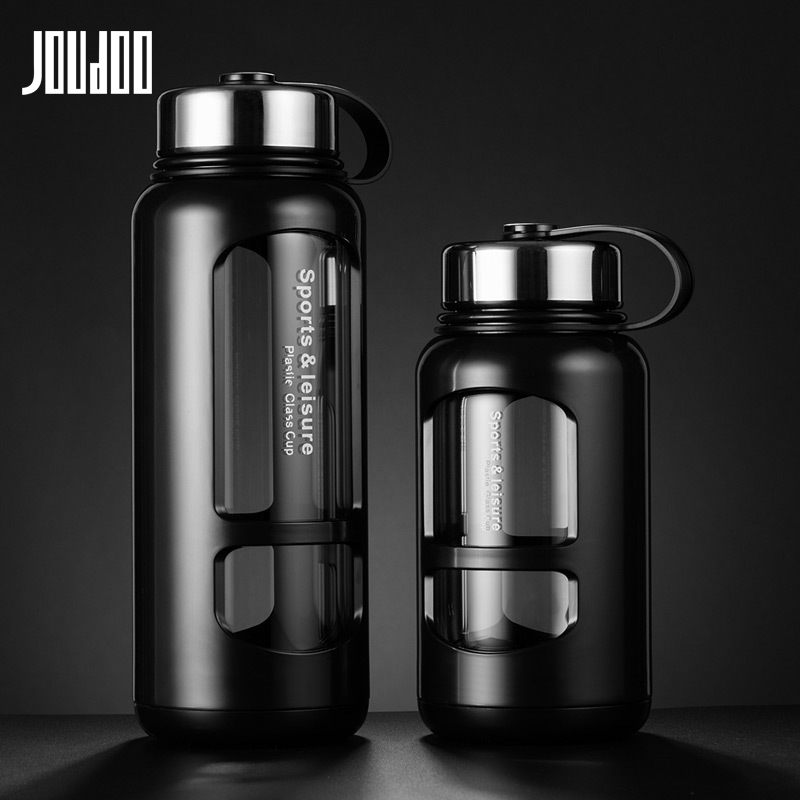 JOUDOO 700ml 1000ml Portable Glass Water Bottles Outdoor Space Bottle Sports Water Bottle Leak proof Bike Climbing Gift 35-in Water Bottles from Home & Garden on AliExpress