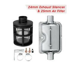 Samochód 25mm filtr powietrza + 24mm tłumik rury wydechowej tłumik uchwyt zacisku zestaw dla Ebespacher Webasto Diesel paliwa powietrzna nagrzewnica postojowa w Ogrzewanie i wentylatory od Samochody i motocykle na