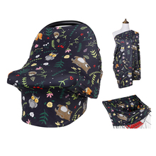 Multi-Use Breastfeeding Nursing Cover Baby Carseat Canopy Infant Shopping Cart Case Maternity Stretchy Privacy Housse Cosy