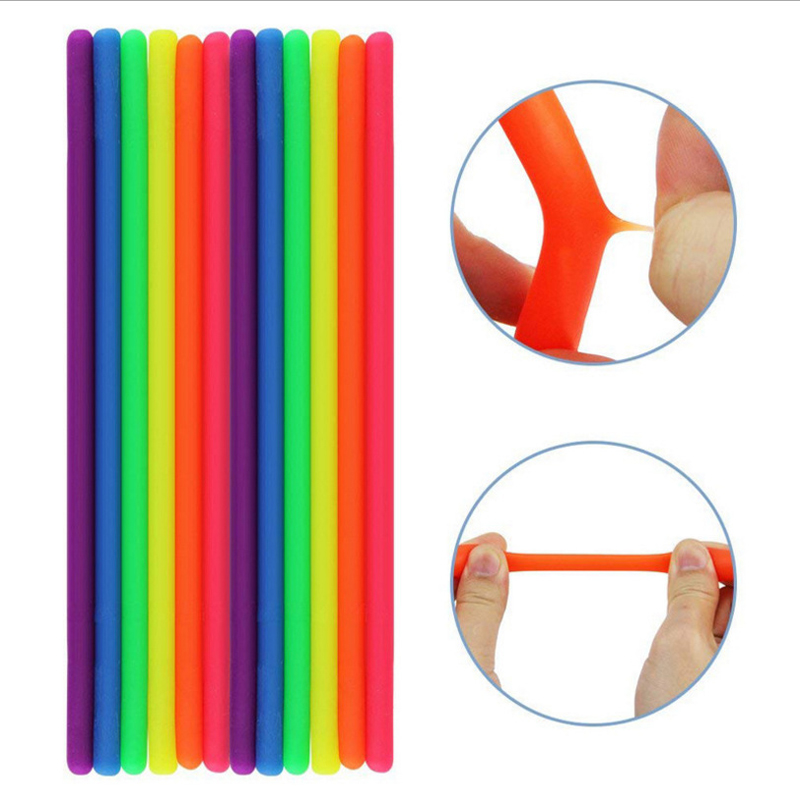 Rope-Toys Decompression Toy Stretch-String Noodle Fidget Relief-Stress Soft-Rubber Sausage img4