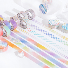 Ink-Tape PET White 15mm--3m Sticker Decoration Color-Adhesive-Tape Journal Scrapbooking