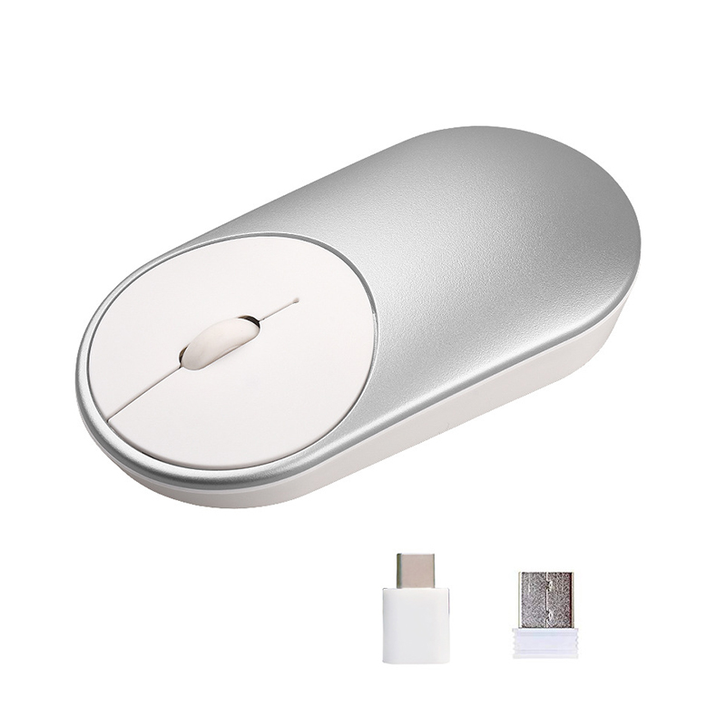 Wireless Mouse Type C  USB Two Receivers Dual-use Optical Ergonomic For Mobile Computer JFlyer