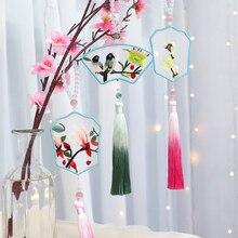 MEIAN Flowers DIY Embroidery Set Birds Needlework Kit Unfini