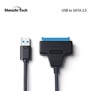"""Image 1 - USB 3.0 SATA kablosu SATA USB adaptörü için 2.5 """"SSD HDD harici sabit disk harici sürücü kutusu"""