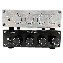HIFI Lossless 1อินพุต4เอาต์พุตRCA Audioจำหน่ายสัญญาณตัวเลือกแหล่งSwitcher Tone Volumeปรับสำหรับเครื่องขยายเสียง