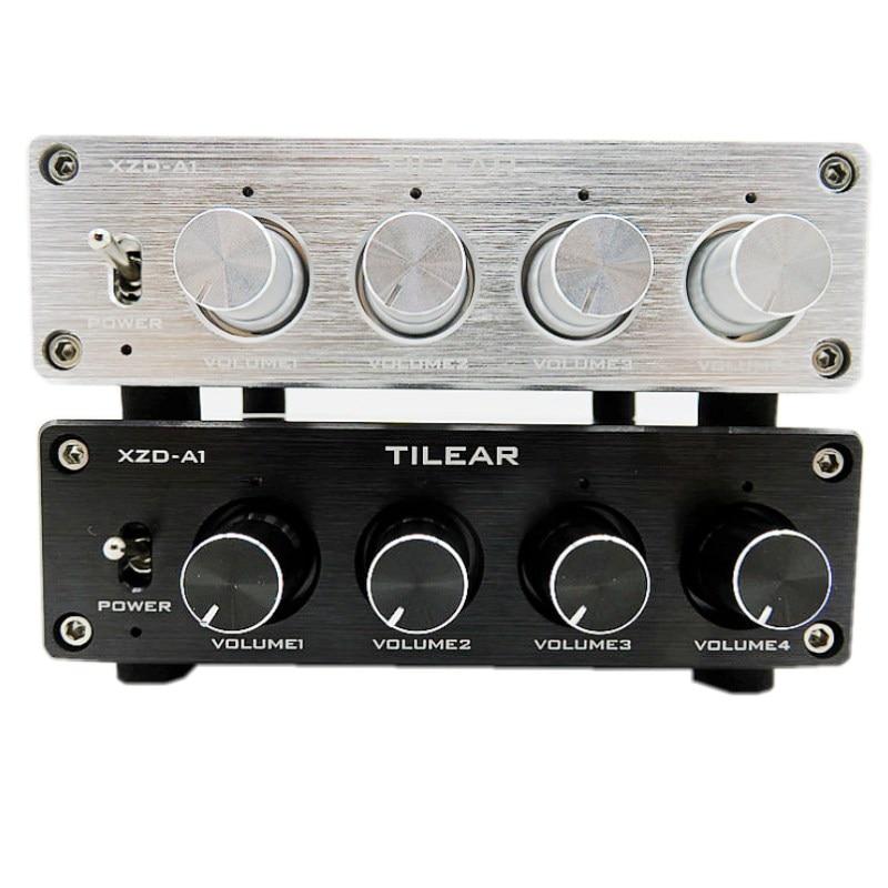 HIFI Lossless 1 вход 4 выхода RCA концентратор аудио распределитель сигнала переключатель источника Регулировка тона громкости для платы усилителя