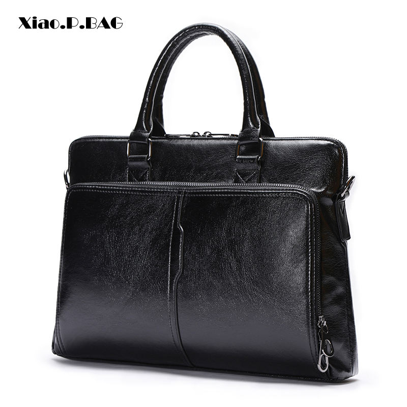 New Design Men Bag High Quality PU Leather Men's Briefcase Business Black Shoulder Bags Laptop Messenger Bag Men Handbag