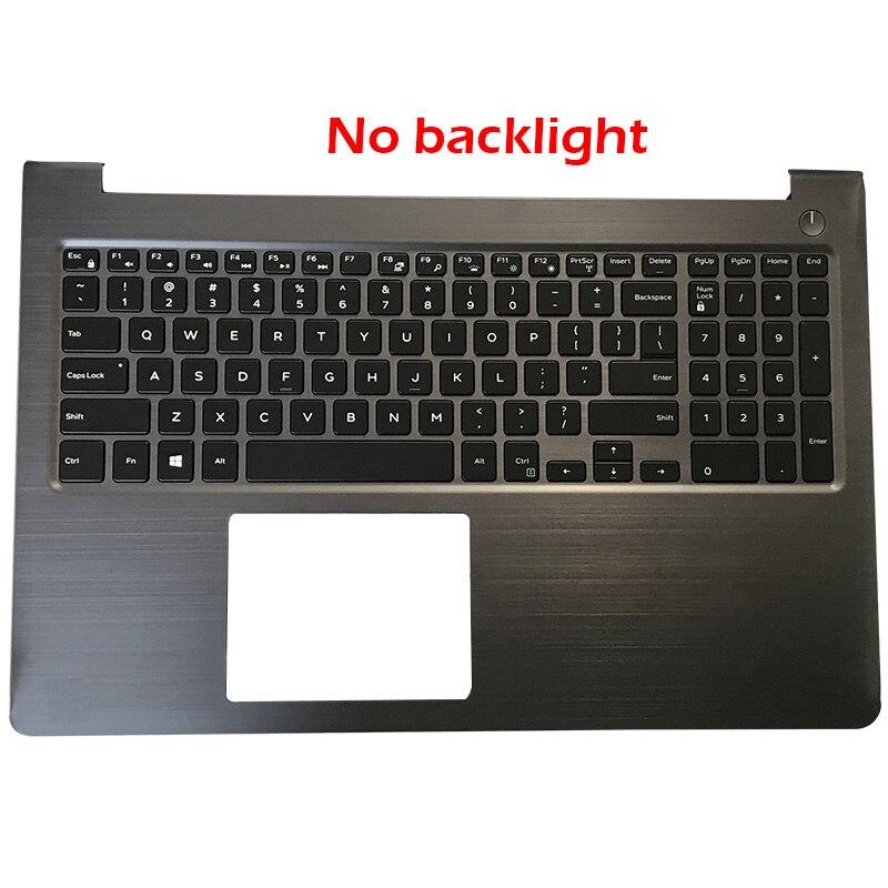 Купить с кэшбэком NEW Laptop Palmrest Upper Case Backlit keyboard For Dell Vostro 15-5000 5568 V5568 FCN57 0FCN57
