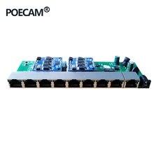 9 портов настольное настенное крепление POE Модуль переключателя PCB общий источник питания 96 Вт IEEE802.3af/at usb-хаб 960 P/1080 P HD ip-камера NVR мини-ПК