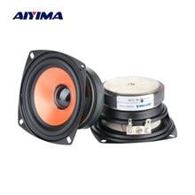 Aiyima 2 pçs 3.5 Polegada alto falantes de áudio gama completa coluna portátil febre som alto-falante 4 ohm 20 w altifalante diy teatro em casa