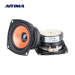 AIYIMA 2Pcs 3.5 Inch Full Range Audio Speakers Column Portable Fever Sound Speaker 4 Ohm 20 W Loudspeaker DIY Home Theater