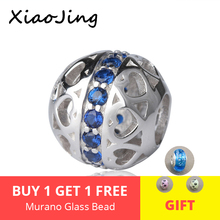 New arrival 925 Sterling Silver charms romantic Beads with blue CZ Fit original pandora Bracelet diy Jewelry making women Gifts