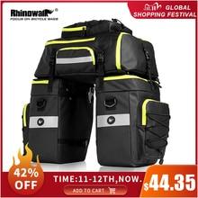 RHINOWALK 75L MTB Bike Rear Seat Trunk Bag 3 in 1 Multifunction Bicycle Pannier Waterproof Double Side Cycling Luggage Pannier