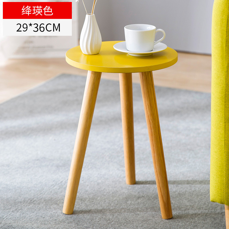 Nordic Double-decked Tea Table Small Family Modern Living Room Table Simple Tea Table Creative Sofa Edge A Few Small Round Table