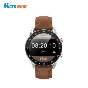 Image 2 - Microwear Смарт часы L7 кровяное давление/Bluetooth/gps/монитор сна Смарт часы фитнес для мужчин и женщин