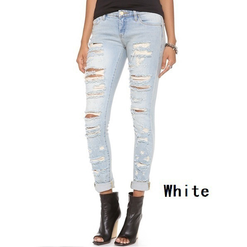 Bigsweety Ladies Jeans Woman Skinny Hole Ripped Jeans Female Baggar Pants Boyfriend Denim Biker Jeans Female Pencil Pants New