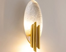 Nordic Post-Modern LED Simple Living Room Creative Gold Foil Wall Lamp Bedroom Bedside Corridor Wall Sconce Light Fixture