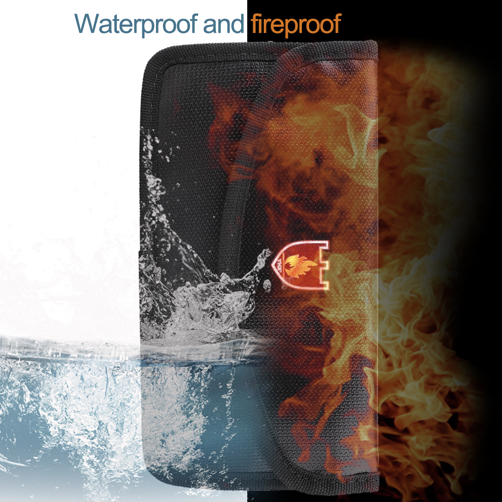 Portable Fireproof & Waterproof Document Envelope File Folder Cash Pouch Fireproof Money Bag Lipo Safe Bag For Home Office
