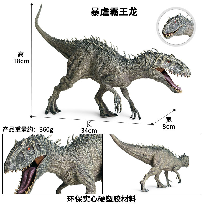 New 34x8x18cm Jurassic Indominus Rex Action <font><b>Figures</b></font> Open Mouth Savage Tyrannosaurus Dinossauro World Animals Model Kid Toy image