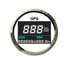 52mm Digitale GPS Lcd computer geschwindigkeitsmesser grüne LCD Speed Gauge Einstellbare Laufleistung Reise Zähler Für Auto Motorrad Boot 12V ~ 24V