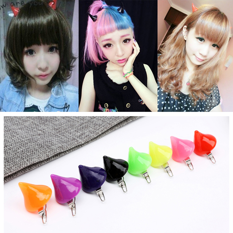 1 Pair Halloween Devil Horns Hair Clip DARLING In The FRANXX Cosplay Accessorise Unisex Lovely Headwear Stage Show Dress Up