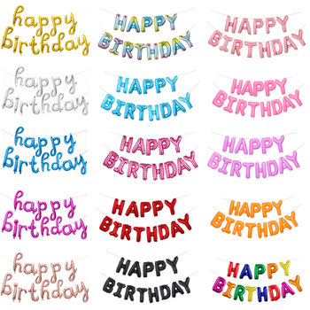13pcs Happy Birthday Decoration Balloons Rose Gold Letter Foil Ballons Birthday Party Decorations Globos Baby Shower Supplies