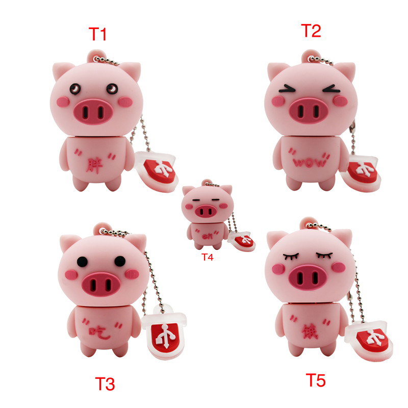 BiNFUL Usb2.0 Cute Mini Ppig Usb Flash Drive Usb 2.0 4GB 8GB 16GB 32GB 64GB Pendrive Gift Usb