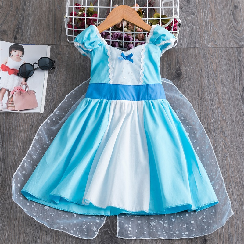 2020 Summer Party Princess Dress Kids Baby Costume Children Birthday Wear Toddler Girls Casual Clothes Size 2-6 Years 1