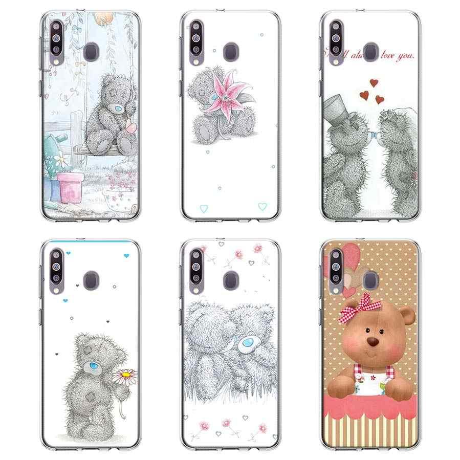 Silikonowe etui do Samsung Galaxy A10e A20 A30s A40 A50s A60 A70 A80 A51 A71 A01 pokrywa tatty teddy niedźwiedź mnie do ciebie przypadki Coque
