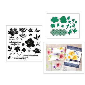 2020 новые металлические резные штампы и Скрапбукинг для изготовления бумаги цветочный фон тиснение рамка карта с ремеслом набор прозрачных ...